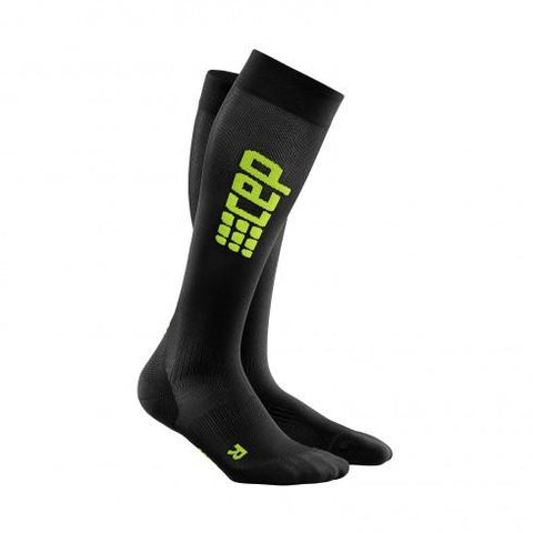 CEP Pro+ Run Ultralight Sock Black/Green Men - Fluidlines