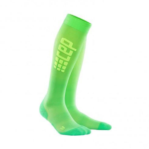 CEP Pro+ Run Ultralight Sock Viper/Green Men - Fluidlines