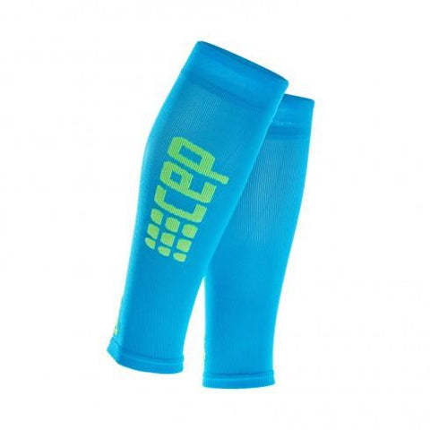 CEP Pro+ Ultralight Calf Sleeve Electric Blue/Green Men - Fluidlines