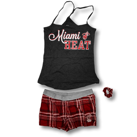 Concepts Sports Miami HEAT Roll Up Sleep Set