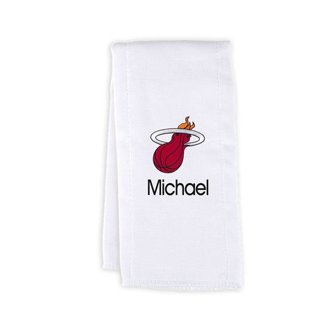 Designs by Chad and Jake Miami HEAT Custom Infant Burp Cloth