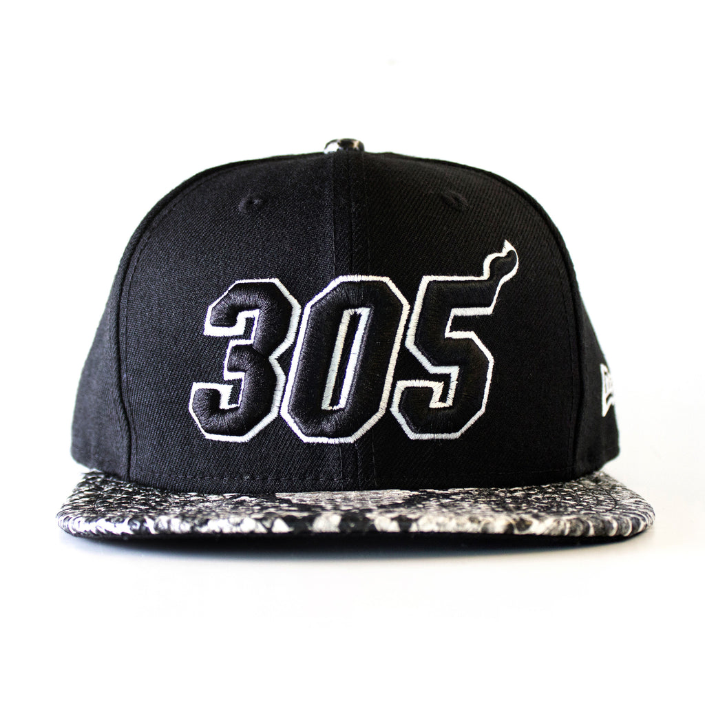 Court Culture Miami HEAT 305 Black and White Snapback - featured image