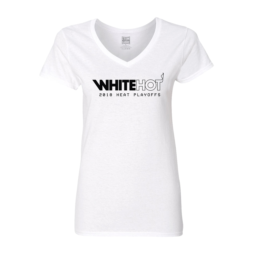 Miami HEAT Ladies White Hot Playoff Tee - featured image