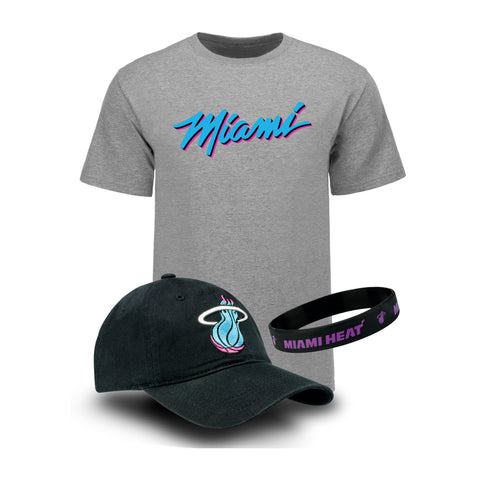 Miami HEAT Vice Nights Youth Hat/Tee Combo Pack