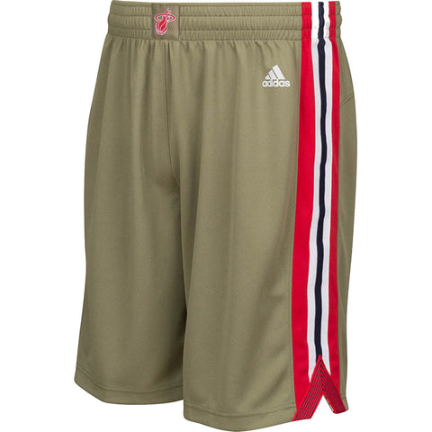 adidas Miami HEAT Youth Home Strong Swingman Shorts