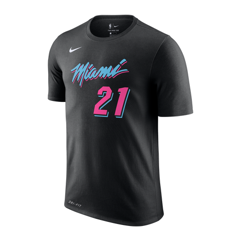 Hassan Whiteside Nike Miami HEAT Youth Vice Nights Name & Number Tee