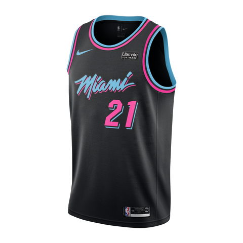 Hassan Whiteside Nike Miami HEAT Youth Vice Nights Swingman Jersey