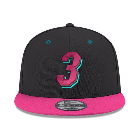 New ERA #3 Dwyane Wade Black Snapback
