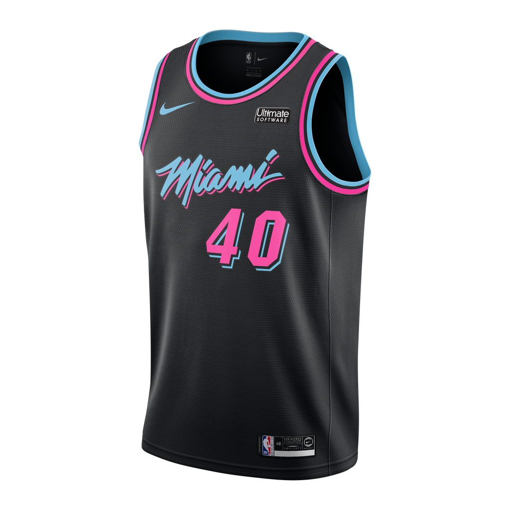 Udonis Haslem Nike Miami HEAT Youth Vice Nights Swingman Jersey - featured image