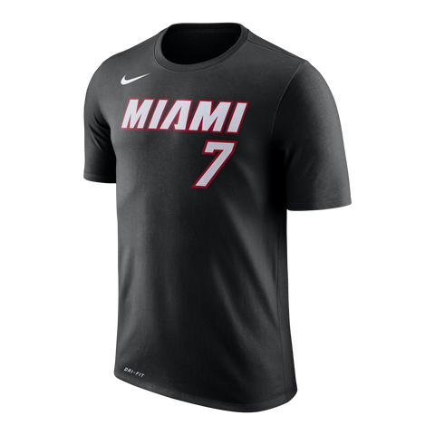 Goran Dragic Nike Miami HEAT Youth Black Name & Number Tee