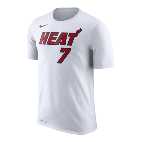 Goran Dragic Nike Miami HEAT White Name & Number Tee