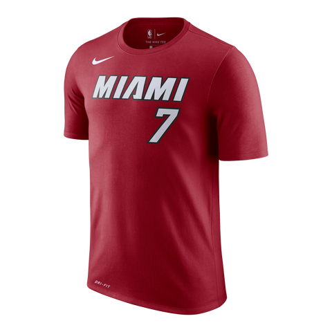 Goran Dragic Nike Miami HEAT Youth Red Name & Number Tee