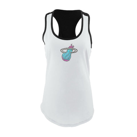 Bling It On Miami HEAT Vice Nights Ladies Racer Tank