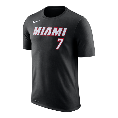 Goran Dragic Nike Miami HEAT Black Name & Number Tee