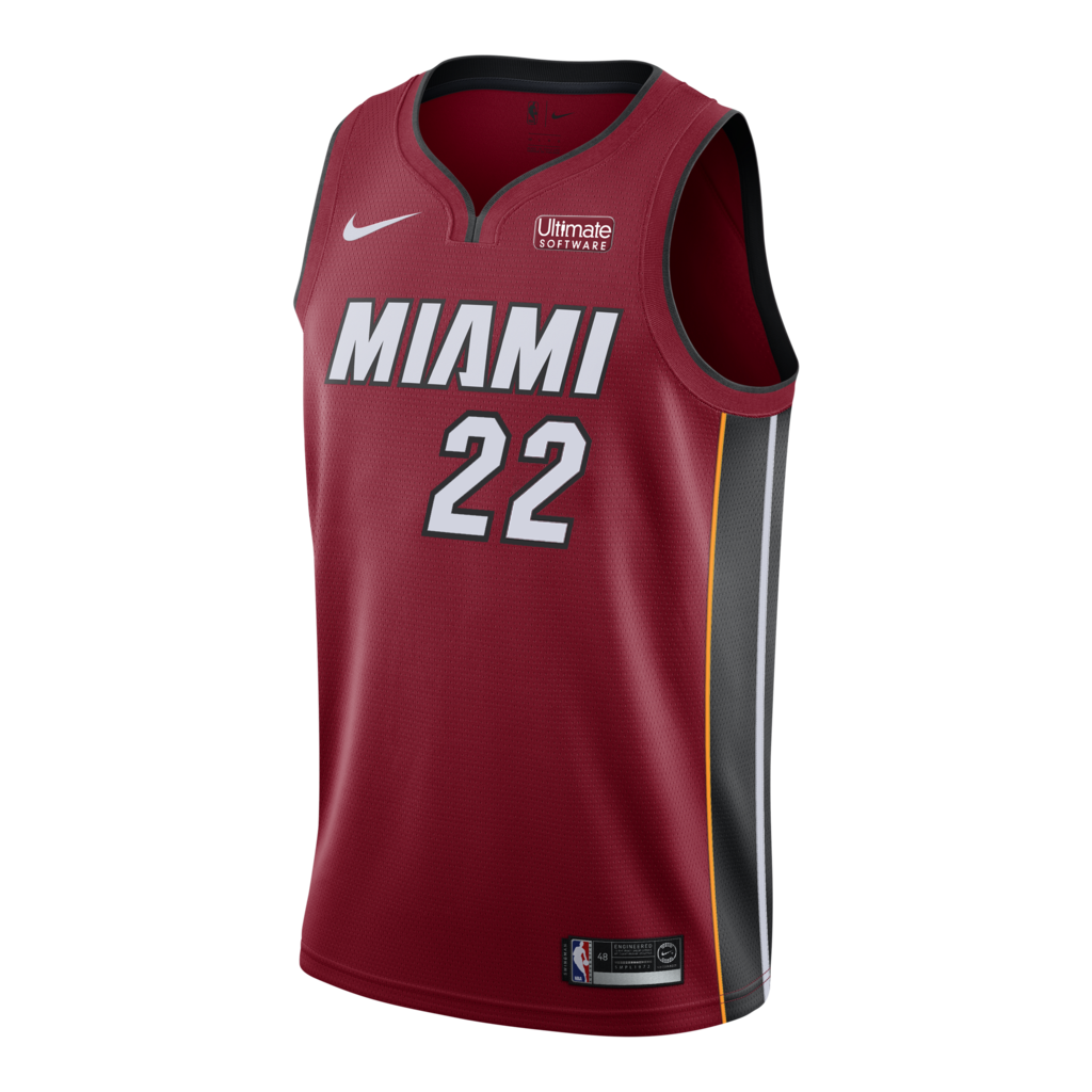 Jimmy Butler Nike Miami HEAT Youth Statement Red Swingman Jersey - featured image