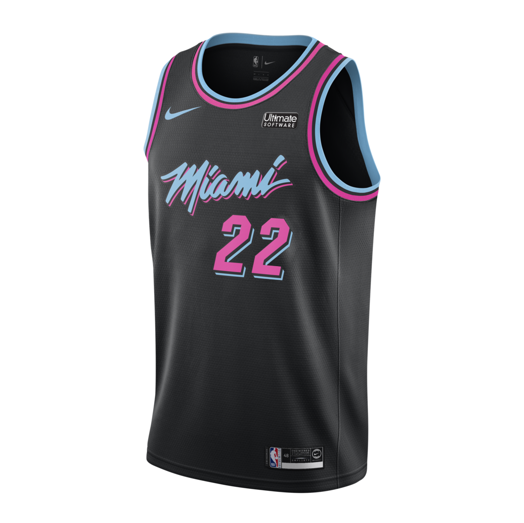 Jimmy Butler Nike Miami HEAT Youth Vice Nights Swingman Jersey - featured image