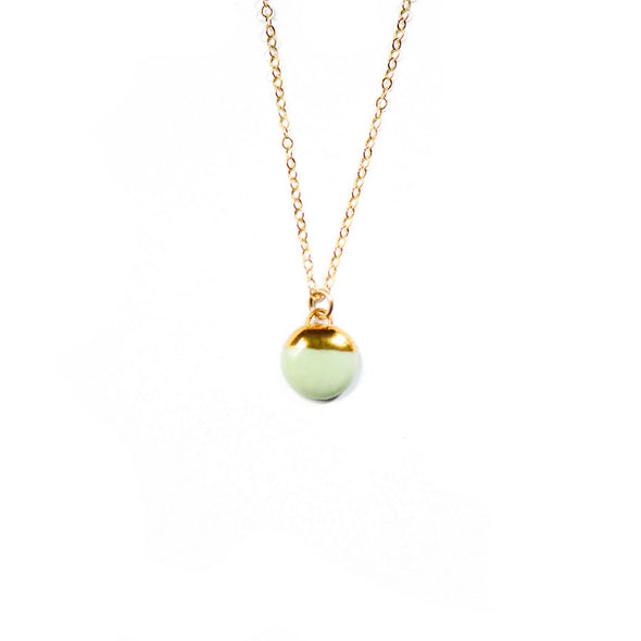 Porcelain and Stone Dipped Buoy Necklace