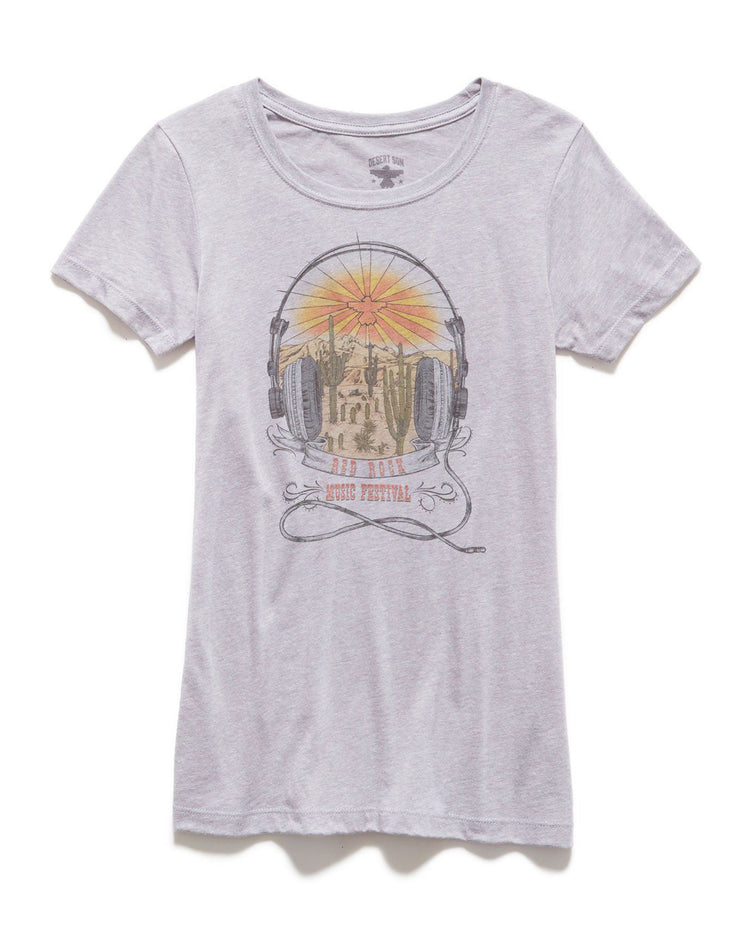 Desert Son Women's Tees - RED ROCK FESTIVAL WOMEN'S TEE (FINAL SALE)