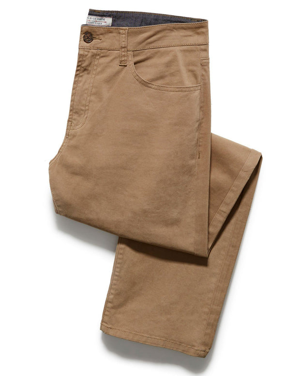 Pants - WALLBURG 5-POCKET PANT - OAKLAND SLIM - BAMBOO KHAKI