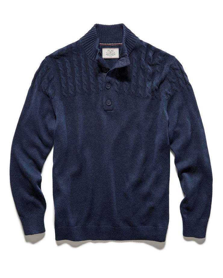 Sweaters - REEVESVILLE MOCK NECK SWEATER - NAVY