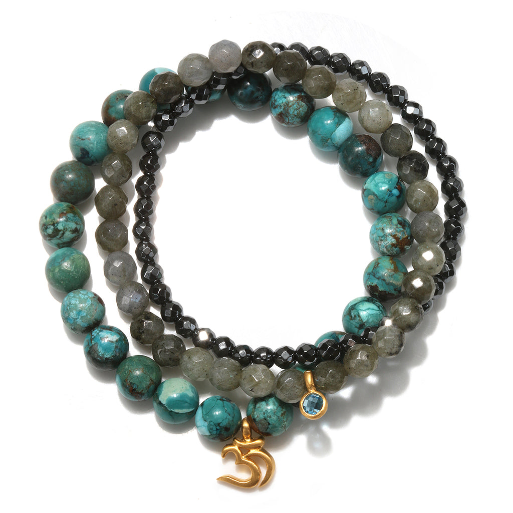 Higher Truth Stretch Bracelet Set - Satya Jewelry