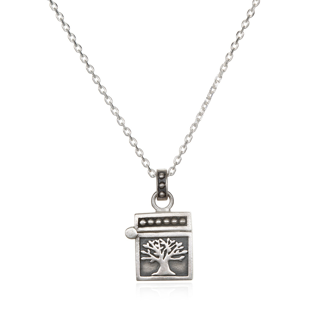 Rooted in Spirituality Silver Necklace
