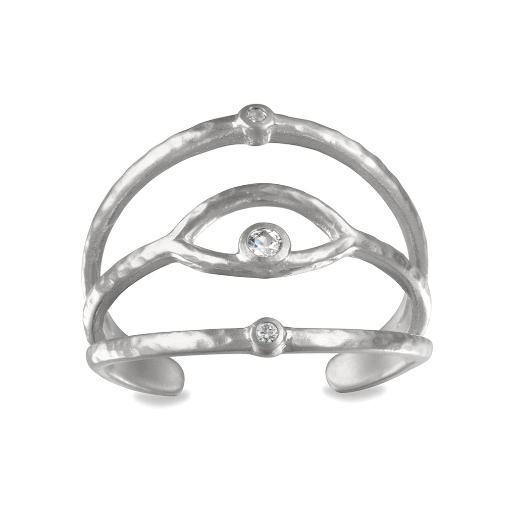 Shielded from Negativity Silver Ring