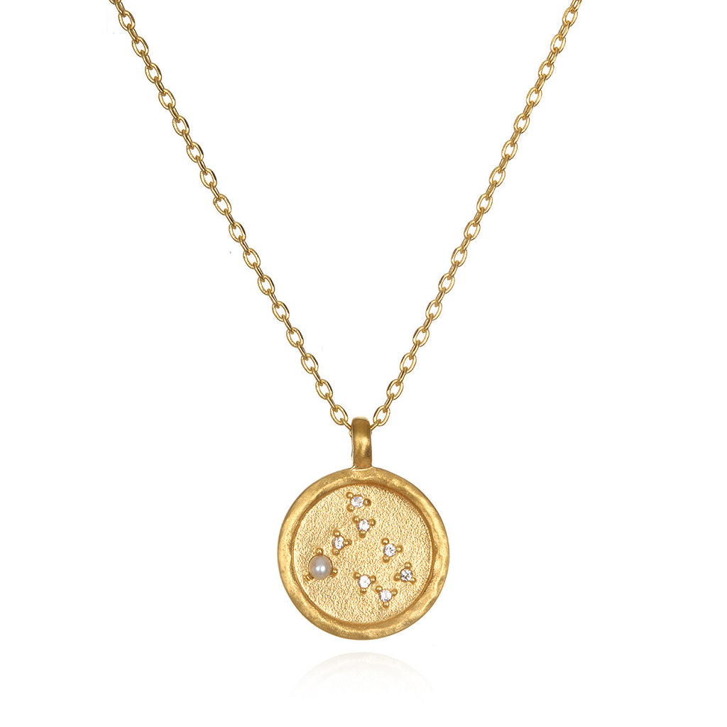 Gemini Zodiac Necklace Gold - Satya Jewelry