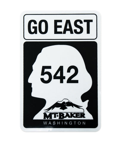 Go East Sticker