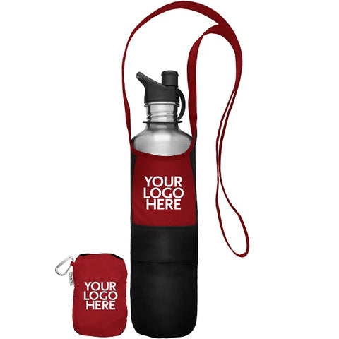 Travel Bottle Sling with Stowaway Pouch