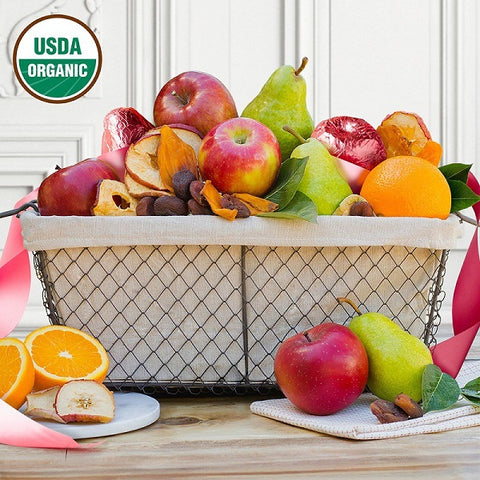 Pink Organic Fruit Basket - Gives Back to Breast Cancer Research