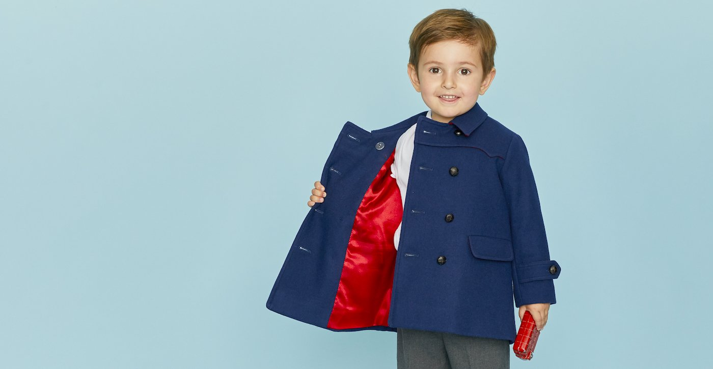Britannical Luxury children's clothing boys coats made in britain