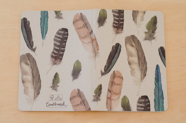 Painted Feathers Notebook