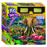 3D Color View Puzzle -AFRICAN SAVANNAH - 1000 PIECES