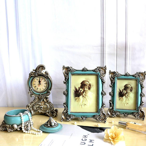 Elegant Pastel Blue Photo Frame Set