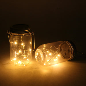 Solar-powered Plastic Jar Lights (Jar & Handle Included),Solar Lanterns - MAGICNIGHT