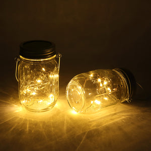 Solar-powered Mason Jar Lights (Mason Jar & Handle Included) - MAGICNIGHT