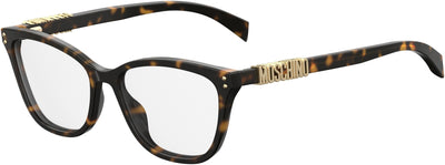 Moschino MOS 500 Rectangular Eyeglasses 0086-0086  Dark Havana (00 Demo Lens)