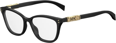 Moschino MOS 500 Rectangular Eyeglasses 0807-0807  Black (00 Demo Lens)