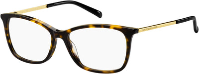 Tommy Hilfiger TH 1589 Cat Eye/Butterfly Eyeglasses 0086-0086  Dark Havana (00 Demo Lens)