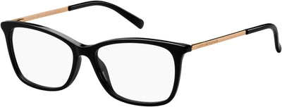 Tommy Hilfiger TH 1589 Cat Eye/Butterfly Eyeglasses 0807-0807  Black (00 Demo Lens)