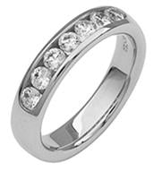 Channel Set Diamond and Platinum Band