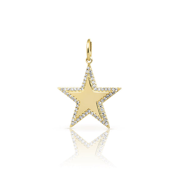 14KT Yellow Gold Diamond Star Charm