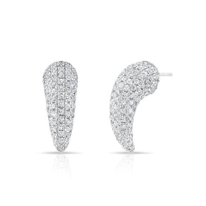 14KT White Gold Diamond Talon Stud Earrings