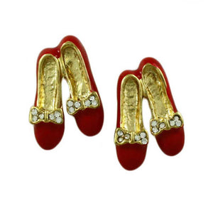 Red Enamel and Crystal Shoes Earring Gift Set - Lilylin Designs