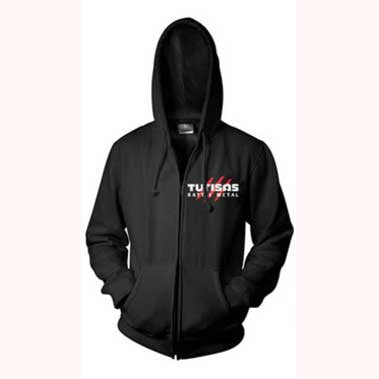 Black Battle Metal Zip Hoody