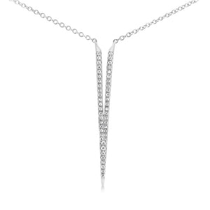 Diamond Dagger Necklace White Gold