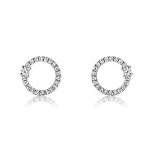 Diamond Orbit Earrings White Gold