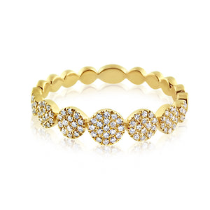 Diamond Disc Band Ring Yellow Gold