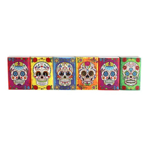 DAY OF THE DEAD MINI MATCHBOX 6 PIECE SET 2.188x1.5x.5""